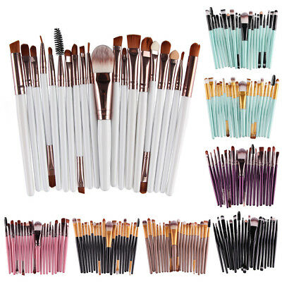 20pcs Professional Cosmetic Soft Eyebrow Shadow Makeup Brush Set Kit New KM9S