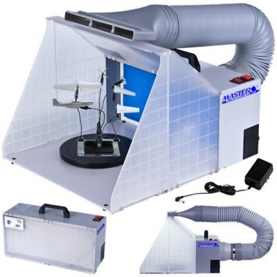 Master Airbrush Brand Portable Hobby Airbrush Spray Booth Exhaust Hose Included