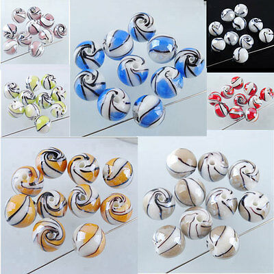 New Multicolor Lampwork Glass 14mm Round Ball Loose Beads Spacer Jewelry MBW022