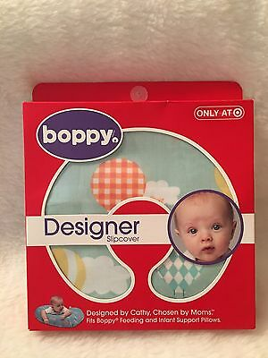 Boppy Designer Nursing Slipcover Bird in Hot Air Balloons Rare Target Exclusive