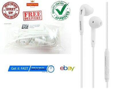 Genuine Samsung Galaxy S7 Edge S6 Earphones S5 Note Headphones+Earbud WHITE