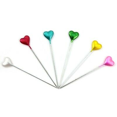 30pcs/Sheet 5.5cm Craft DIY Sewing Knitting Tools Colors Heart Head Needle Pins