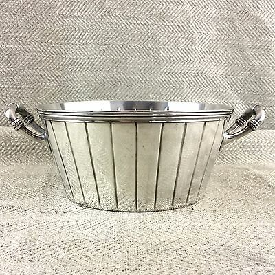 Antique Christofle Bowl Twin Handled Serving Bucket Tub Silver Plated French