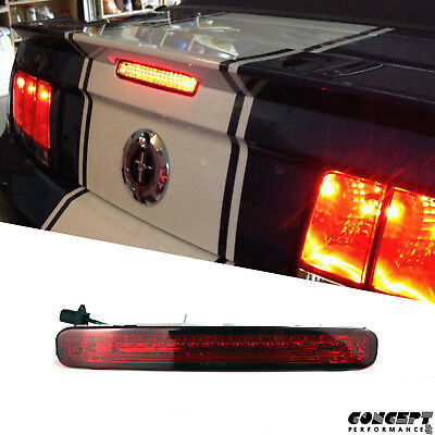 fit for 05-09 S197 Ford Mustang  Third Brake Trunk Light  LED Center Tinted Red
