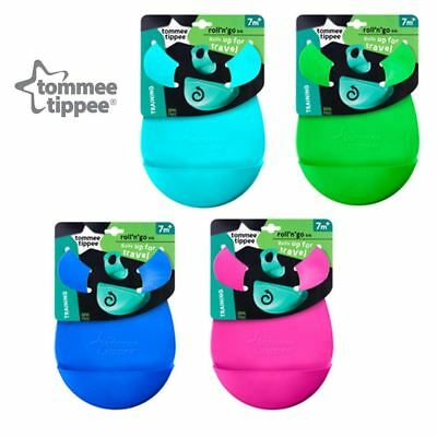 Tommee Tippee Roll'n'Go Bib - Blue, Green, Pink, or Turquoise