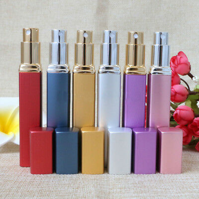 PORTABLE MINI REFILLABLE ATOMIZER EMPTY PERFUME SPRAY BOTTLE TRAVEL METAL 10ml