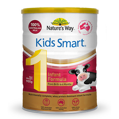 3 x Nature's Way Kids Smart Stage 1 Infant Formula 900g