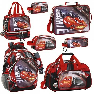 Disney Pixar Cars 3 Backpack Rucksack Travel Lunch Messenger School Bag OFFICIAL