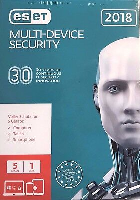 ESET Multi-Device Security 2018 1Jahr 5Geräte Win - Mac - Android - Linux - ESD