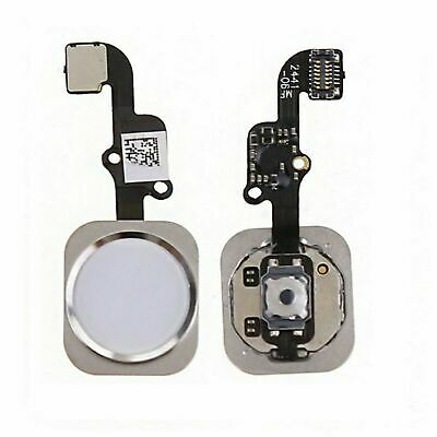 For iPhone 6 WHITE Replacement Home Button Flex Cable Fingerprint Touch ID