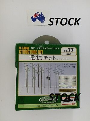Green Max N Gauge Structure KIT (Street Utility Pole) No.77