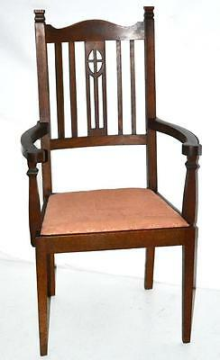Antique English Oak Carver Armchair - FREE Shipping [PL3392R]