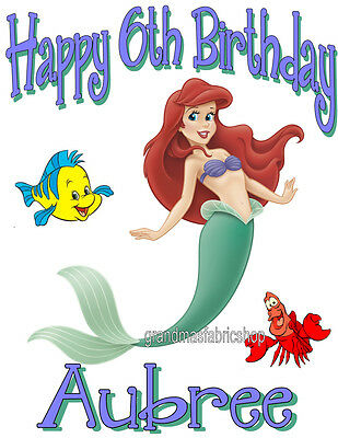 NEW Custom Personalized Little Mermaid t shirt Birthday party gift Add Name Age