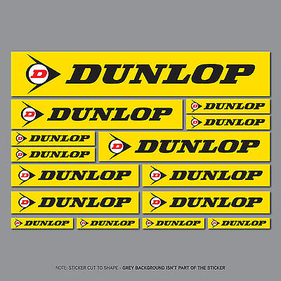 SKU2623 - Set Of 15 Dunlop Stickers - Decals - Motorcycle - Car - Truck