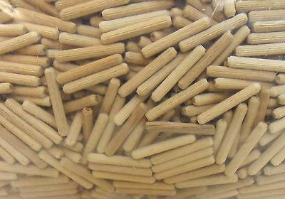 Wood Dowel Beech Ribbed 6 mm x 60 mm - 1 kg = Approx. 850 Pieces