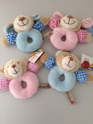 *SALE* Baby's 1st Rattle, Pink, Blue, Puppy, Teddy, Baby Gifts, Plush, Soft