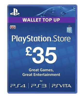 Sony PlayStation Network Card - £35 - PS4/PSV/PS3 Brand New