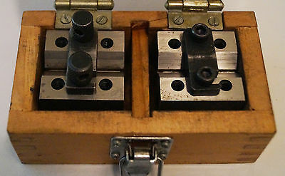 "Steel V Blocks 1-3/8"" with clamps"