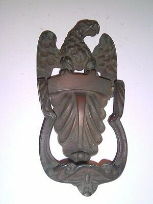Vintage Bronze Eagle federal DOOR KNOCKER 2-1/4 pounds Great patina