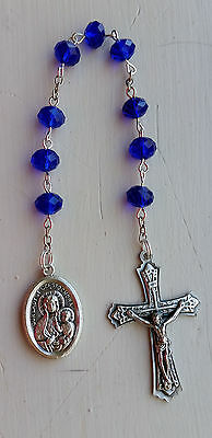 St. Pope John Paul II & OL Czestochowa NINER Prayer Catholic Rosary BLUE Chaplet