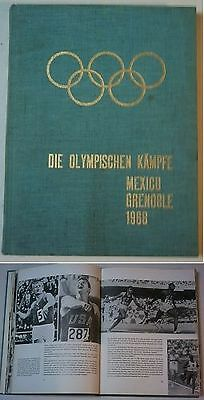 Orig.Book / Report      Olympic Games MEXICO / GRENOBLE 1968  !!     Edition A