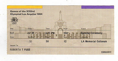 Orig.ticket    Olympic Games LOS ANGELES 1984 - OPENING CEREMONY  !!