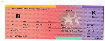 Orig.ticket     Olympic Games LOS ANGELES 1984  -  BOXING / 02.08.1984  !!  RARE