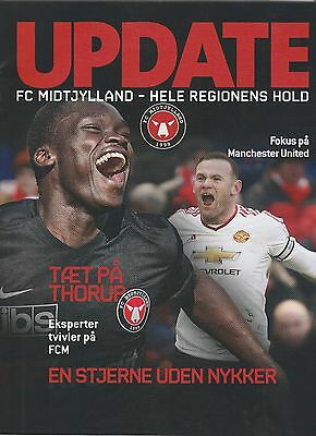 Orig.PRG  Europa League  2015/16   FC MIDTJYLLAND - MANCHESTER UNITED / B ! RARE