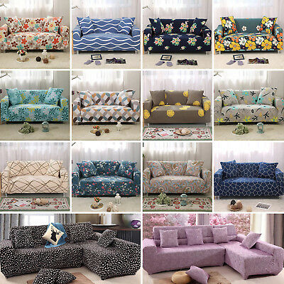 L Corner Stretch Sofa 1 2 3 4 Seater Protector Washable Couch Cover Slipcover C