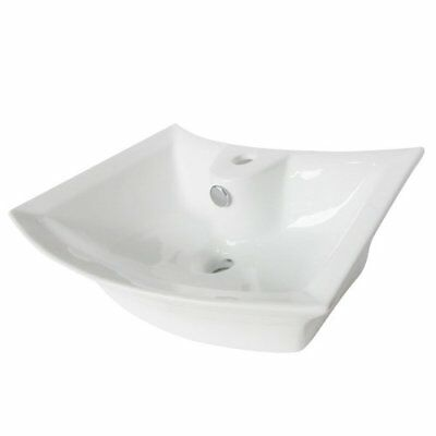 KNGB-EV4337-Kingston Brass Courtyard White China Vessel Bathroom Sink with Over