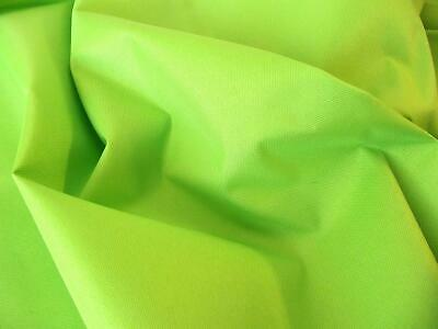 Soft PU Coated Water-Resistant Polyester Fabric Material - LIME