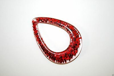 Impex Trimits Jewellery - Red Glitter Pendant Rt58