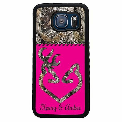 Personalized Camo Deer Pink Case for Samsung Galaxy S8, S8 Plus, S7, S7 Edge, S6