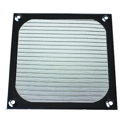 12cm x 12cm PC Cooler Fan Aluminum Dustproof Meshy Filter Black Y6A9