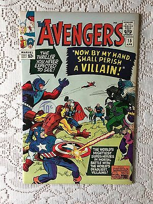 Marvel Comics Avengers # 15 1965 VF+