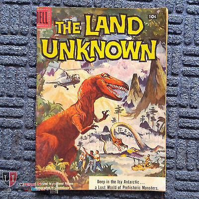 Four Color Comics #845 The Land Unknown Dell Comics 1957 Universal Dinosaurs VG+