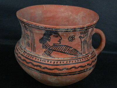 Ancient Large Size Teracotta Painted Jug Roman 100 BC #PT675