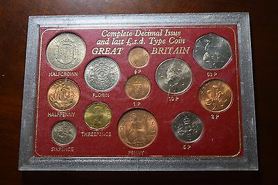 Great Britain Complete Decimal Issue and Last £.s.d. Issue 12-Coin Set #2