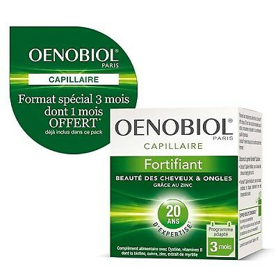 OENOBIOL Capillaire Fortifiant - 180 capsules Cheveux et Ongles
