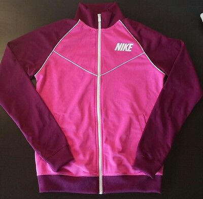 Vintage Nike Sportswear Women's Track Jacket  Zip Up Pink Purple White Sz. M