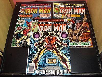 Iron Man 78 82 122 Marvel Comic Book Lot Of 3 1975-79 FN - VF Condition 8.0