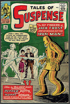TALES OF SUSPENSE  45  VG+/4.5  -  1st appearance of Happy and Pepper!