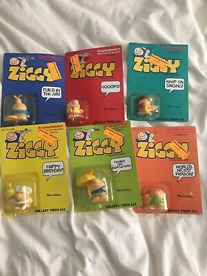 Ziggy 1981 Complete Stet Toy Figures Sealed