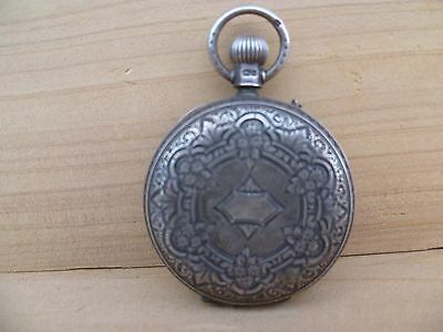 Antique Old Aw & Co Watchmakers Very Nice Silver Fob Watch, (F121)