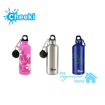 Cheeki Stainless Steel Drink Bottle 500ml with 2 Lids