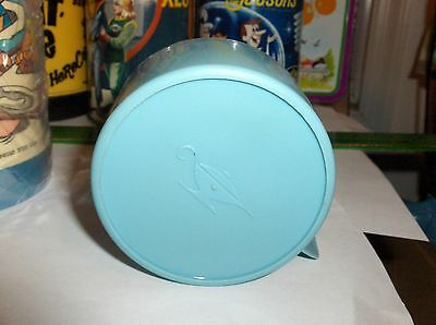 Beatles`1965`Blue Plastic Aladdin Lunch Box Thermos Cup->No Cracks-:>Free To US