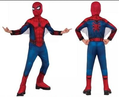 Spider-man Homecoming Child Costume Size Medium (8-10) For 5-7 Years