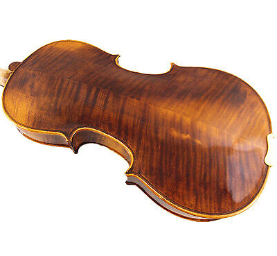 "New 15"" Viola - Antique Style Hand-made Flamed Back+Bow+Square Case  # V01"