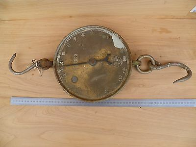 Antique Old Very Large Salter Scales, English Brass & Steel Scales (F233)