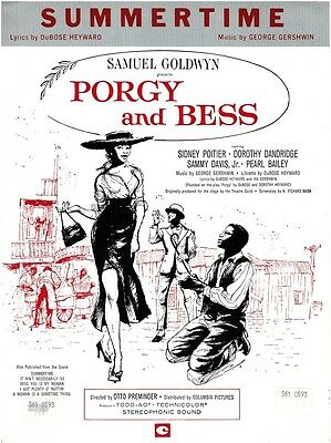 George Gershwin - Summertime PORGY and BESS Sheet Music Book Piano Vocal Guitar